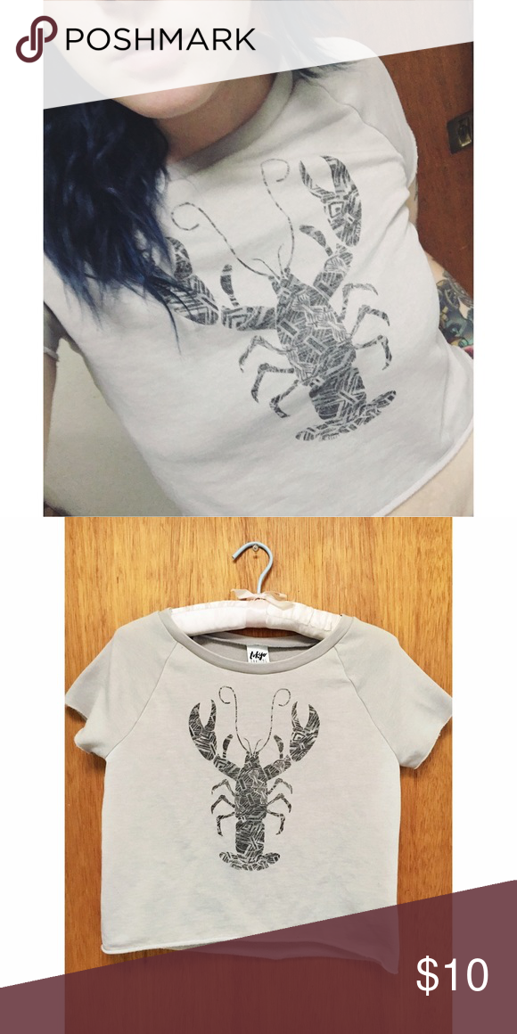 "🦀lobster cozy crop top🦀 👘super cozy and soft! Never worn other then to try on,  size xs. Brand is ""Tokyo Darling"" sold at Aeropostale. 💥ALL ITEMS ARE SOLD AS IS💥 Aeropostale Tops Crop Tops"
