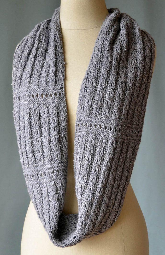 Free Knitting Pattern For Ellery Reversible Cowl Infinite Scarf