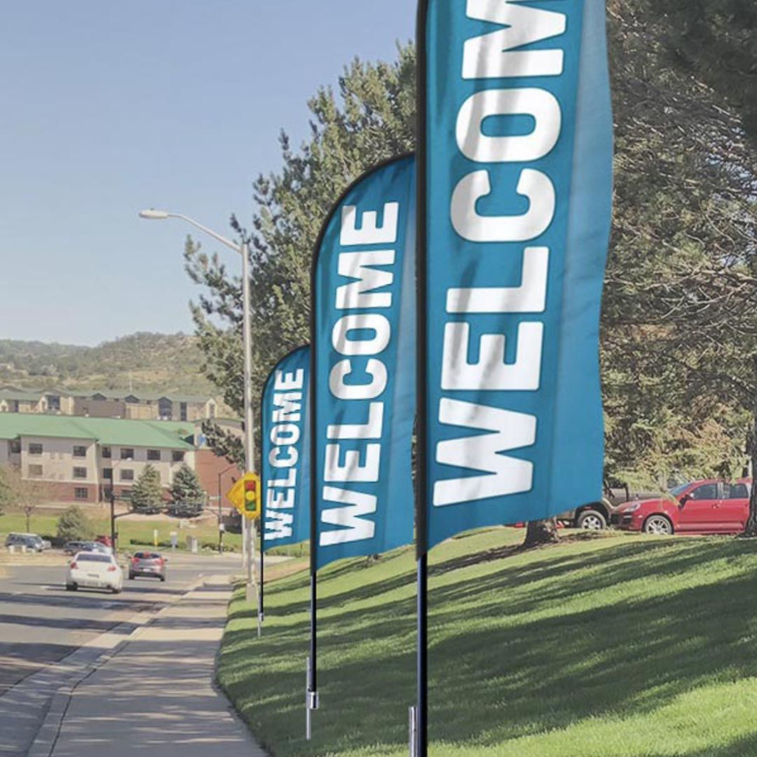 Family Welcome Flag Banner Banners Outreach Flag Banners Church Banners Hospital Signage