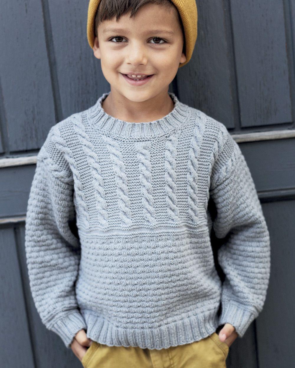 джемпер для мальчика на три года спицами