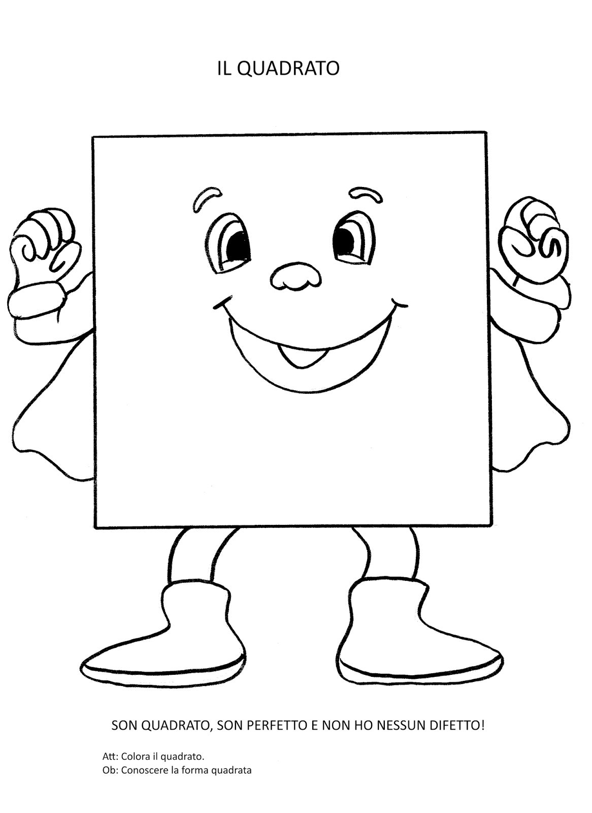 Super hero themed shaped character Preschool coloring