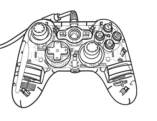 Pin by Jodi Toro on My Art Pinterest Xbox controller and Artwork - best of coloring page xbox controller