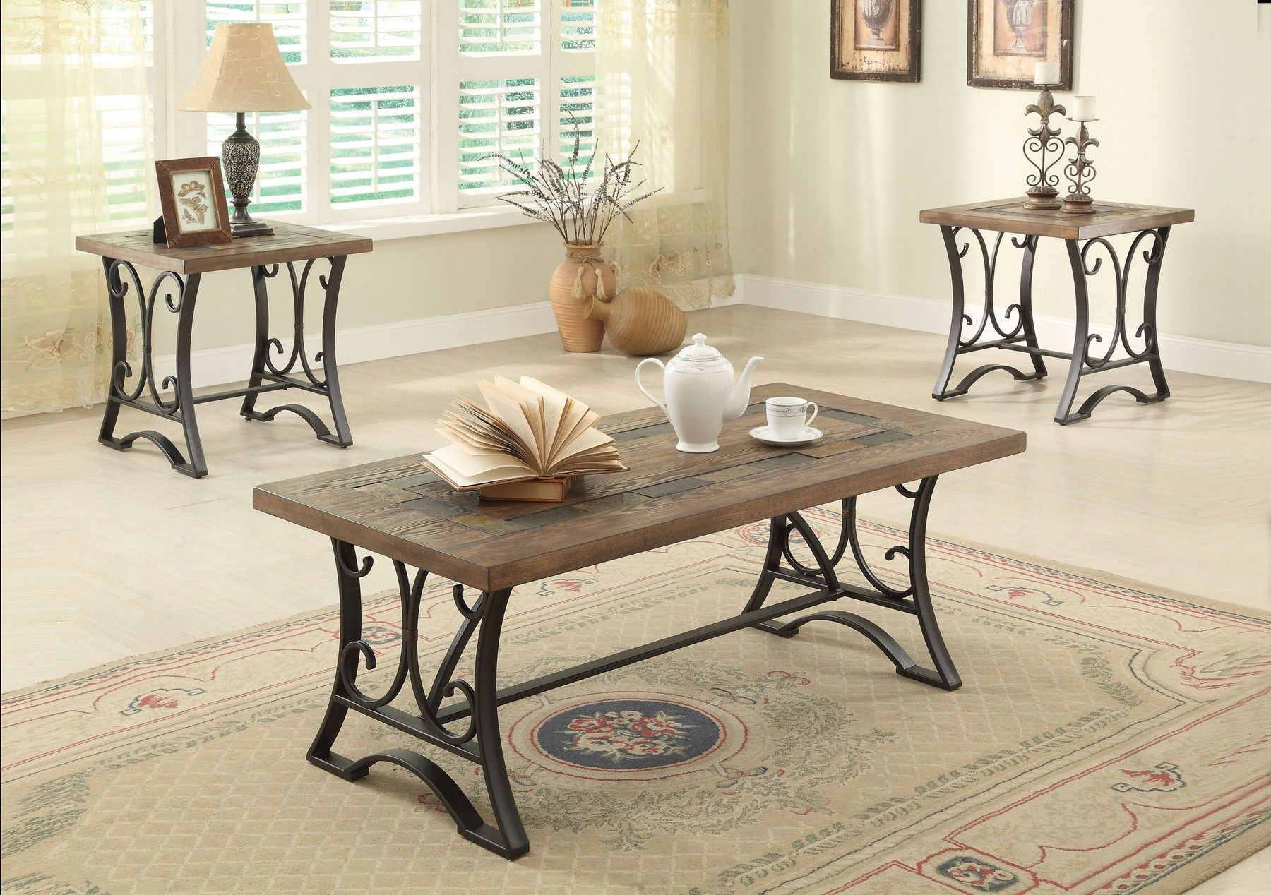 Kiele Coffee Table 2 End Tables 81125 Acme Corporation Coffee Tables Coffee Table Setting Coffee And End Tables Coffee Table [ 1268 x 1800 Pixel ]