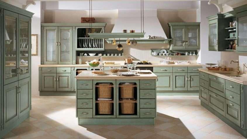 Arredare la cucina in stile country chic - Cucina con isola ...