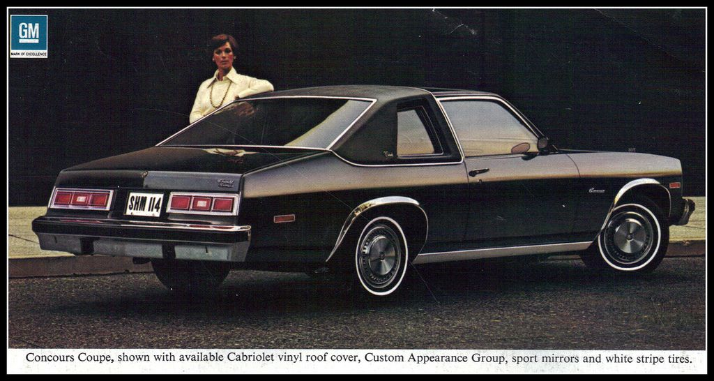 Image Of The 1977 Chevrolet Nova Concours Advertiseing Poster