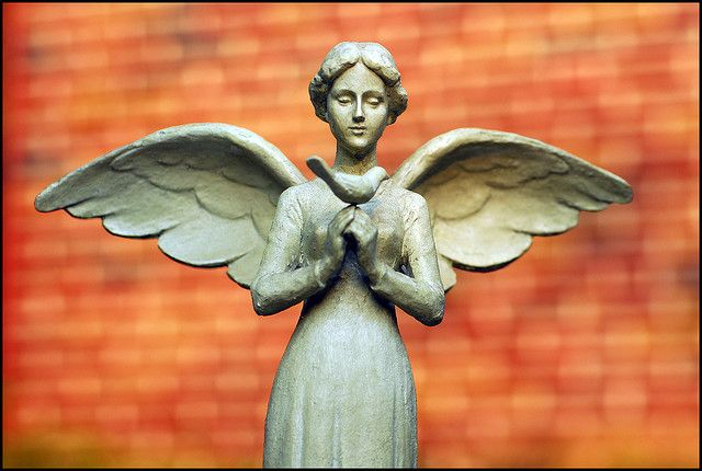 """*An angel's love, like a quiet summer day, is as uncomplicated as breathing in and out.~unknown    Garden Angel -- """"In the garden / of your soul / plant kindness / and simplicity."""""""