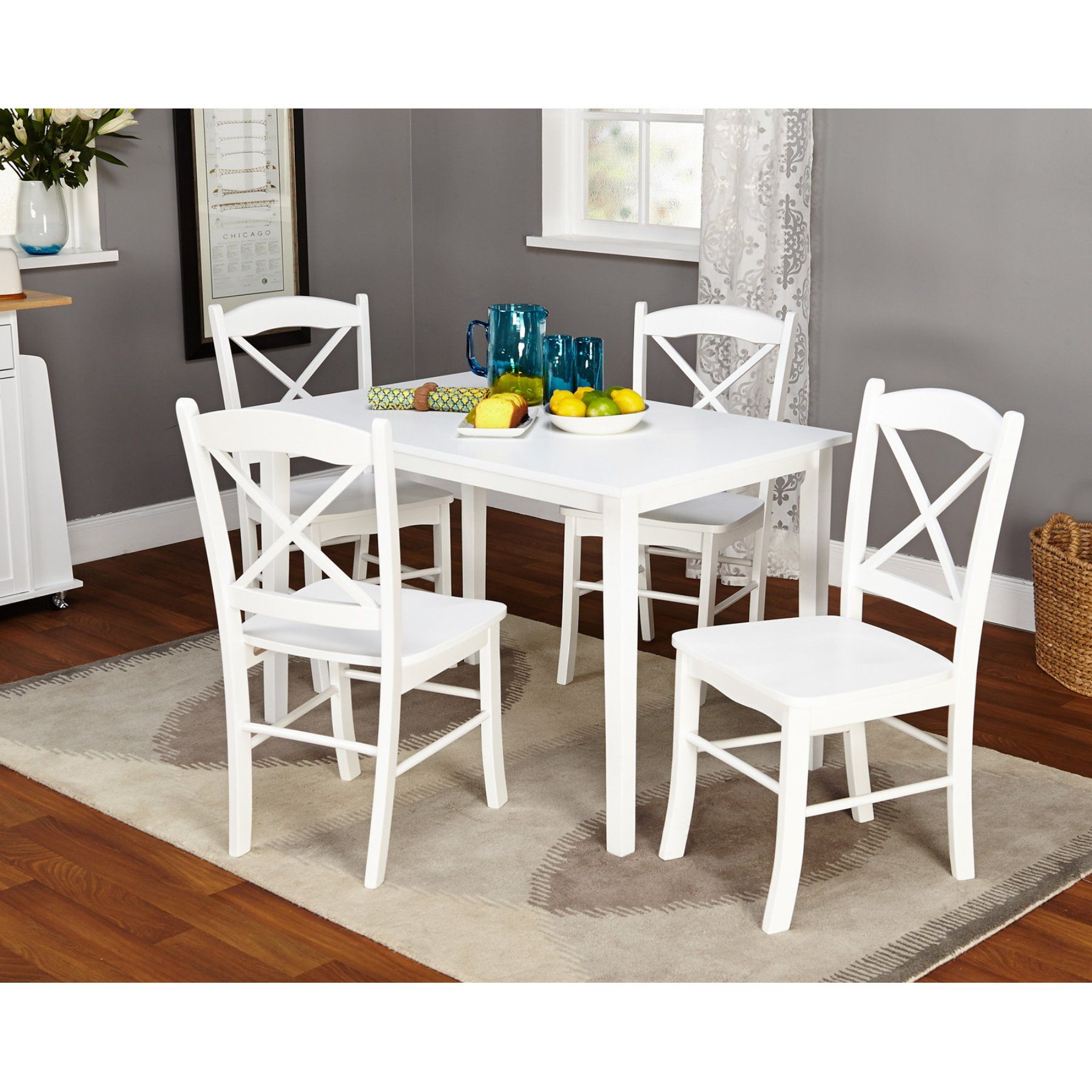 Target Marketing Systems Kaitlyn 5 Piece Dining Table Set
