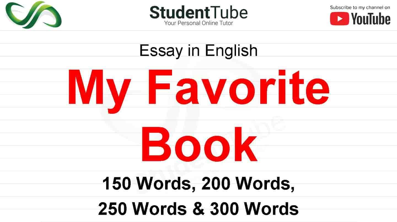 My Favorite Book Essay Books On
