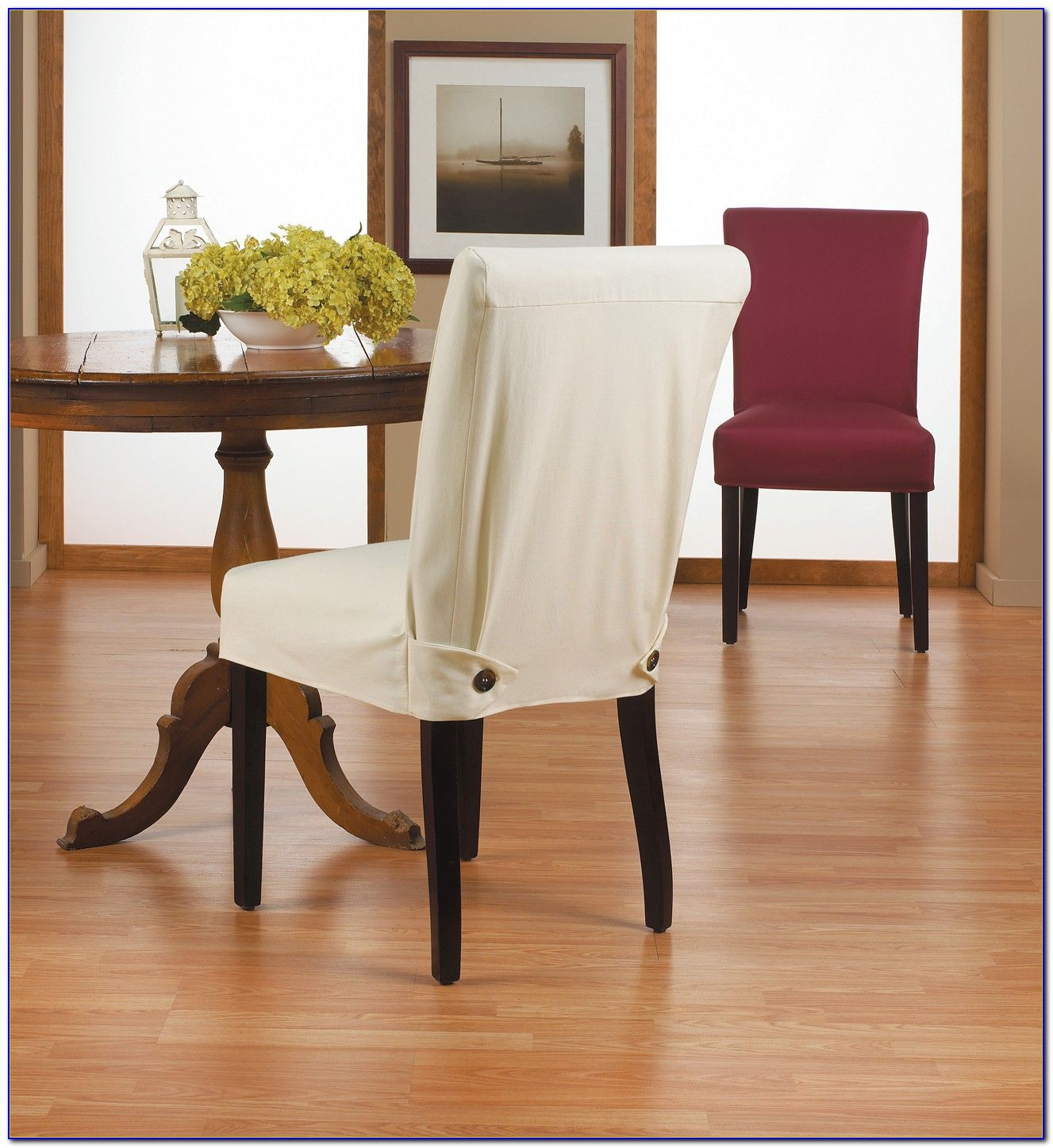 Dining Chair Slipcovers Chairs Home Design Ideas