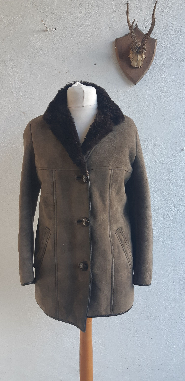 Vintage Sheepskin Suede Coat Original 60s 70s By Nurseys Brown Etsy Suede Coat Vintage Clothing Men Brown Coat