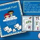 Snowball Fun Game FREEBIE! This file folder path game targets 40 Dolch words OR use the Editable cards to add ANY content that needs practice. It w...