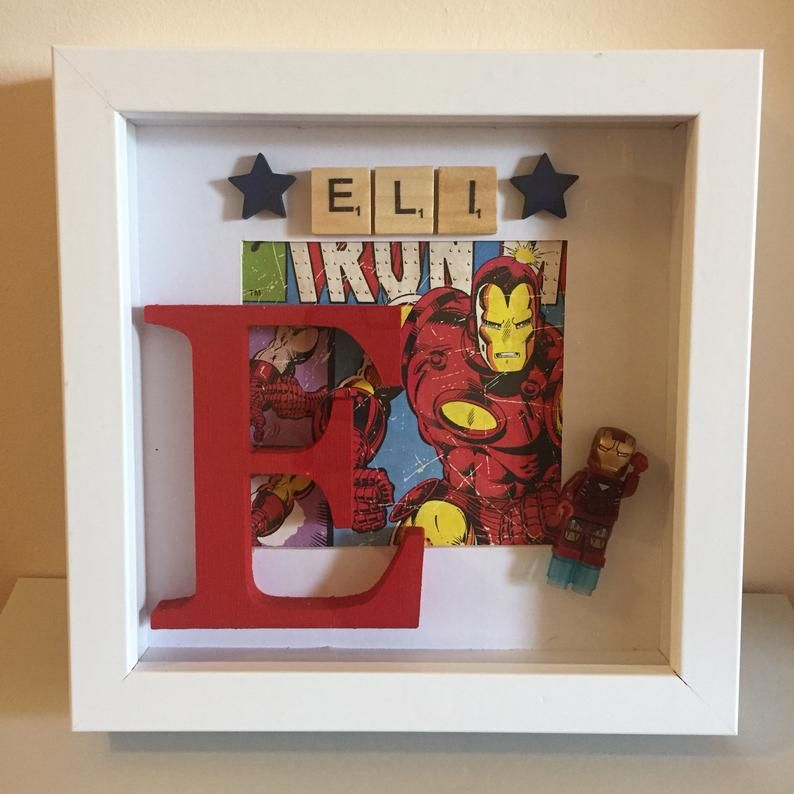 Personalised 3D Frame Keepsake Birthday Woody Themed  Toy Story Wall Decoration