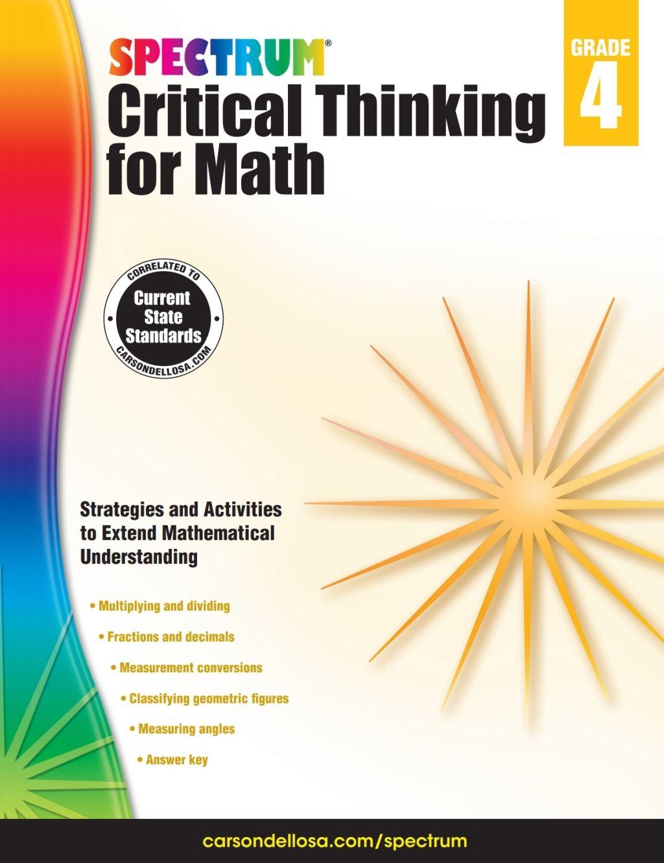 Spectrum Critical Thinking For Math Grade 4 Ebook