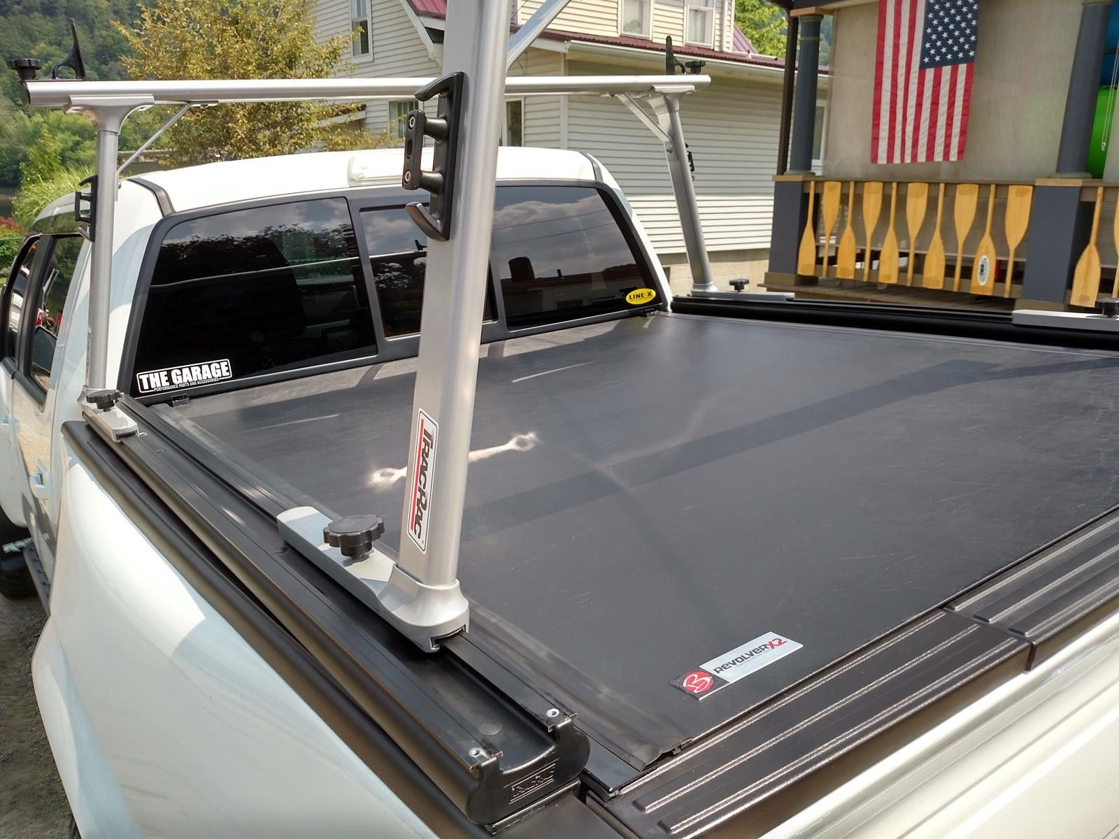 Revolverx2 Hard Rolling Tonneau Cover Tracrac Sr Truck Bed Ladder Rack System Truck Bed Covers Tonneau Cover Diy Truck Bedding