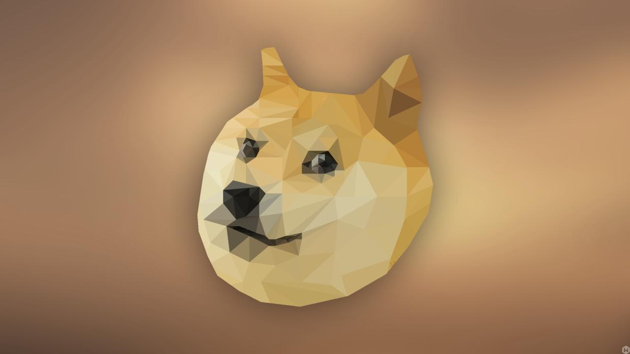 a31bfb41902c7877549f8e13d0bb64af free low poly doge wallpaper front desktophut animated,Doge Meme Wallpaper