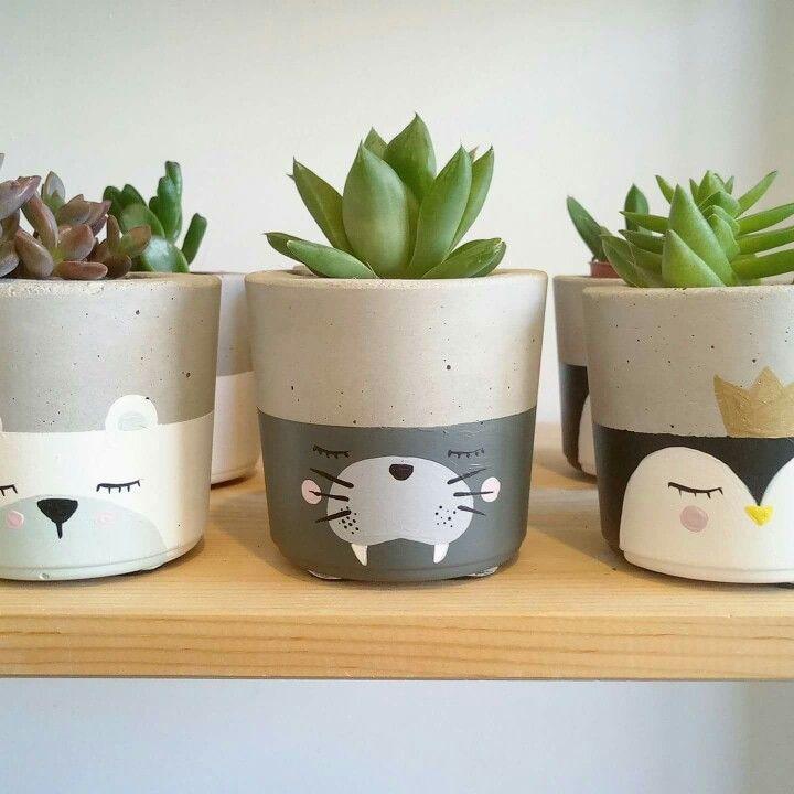 Photo of Concrete flower pots