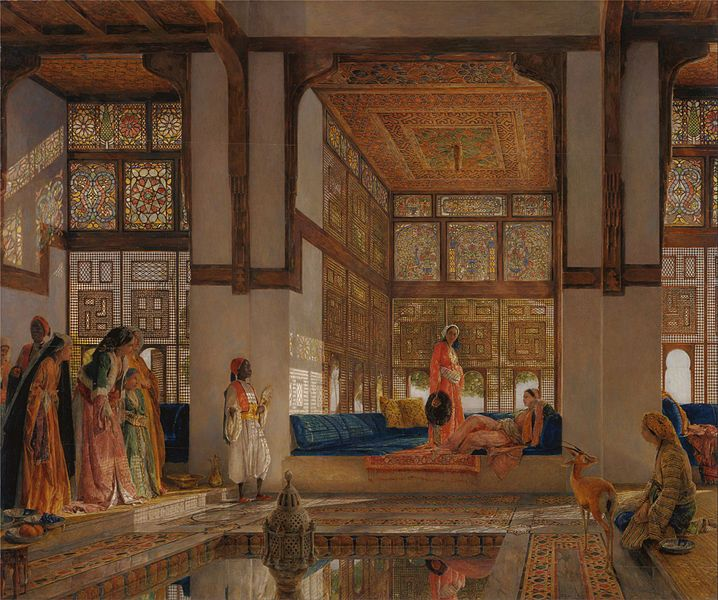 File:John Frederick Lewis - A Lady Receiving Visitors (The Reception) - Google Art Project.jpg