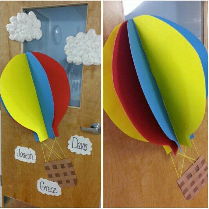 Hot Air Balloon Door Decorations - Home Decorating Ideas