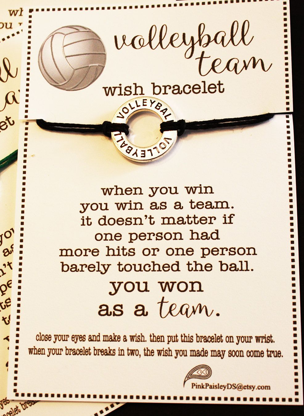 7 Volleyball Team Wish Bracelets Pick Your Qty Color Etsy Volleyball Team Volleyball Workouts Volleyball Coach Gifts