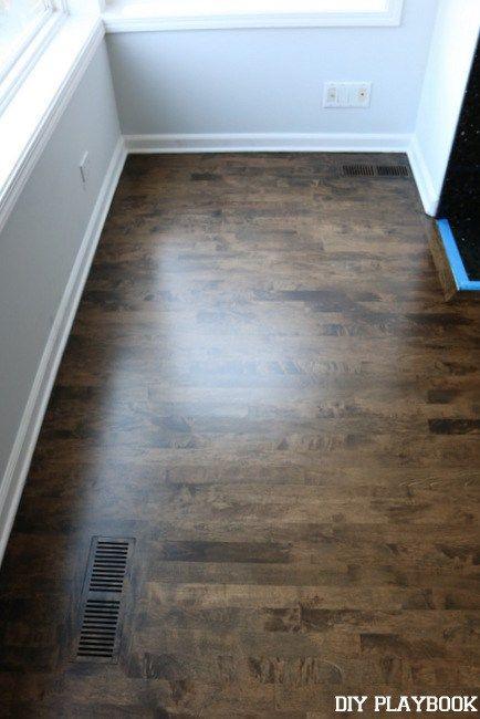 Before After Stain Hardwood Floors Diy Playbook Flooring