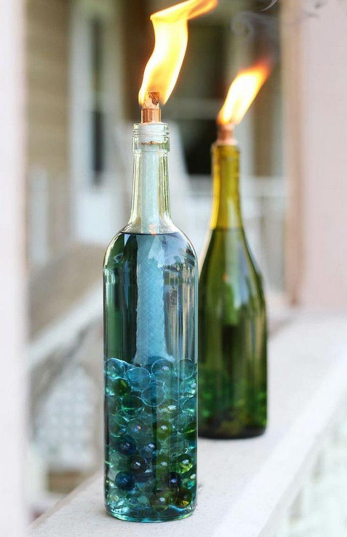 1001 ideas de manualidades con botellas de vidrio y - Manualidades con botellas de cristal ...