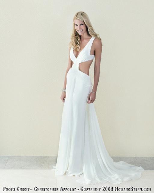 Beth Stern Loves Cutaway Midriffs Wedding Gown Backless