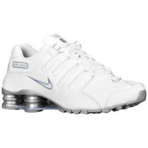 Discount Authentic Womens Nike Shox NZ Shoes Metallic White/Orange/Black