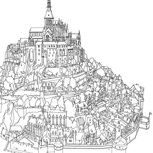 Pin by Alix on Printables: Coloring (Places & Buildings