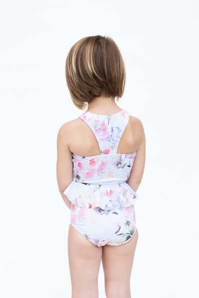 Mini Racer Back Top - blush floral