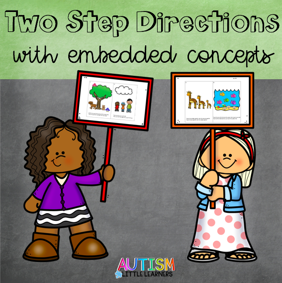 Two Step Directions With Embedded Concepts Early Childhood
