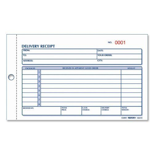 Rediform Delivery Receipt Book Carbonless 425 X 6375 50