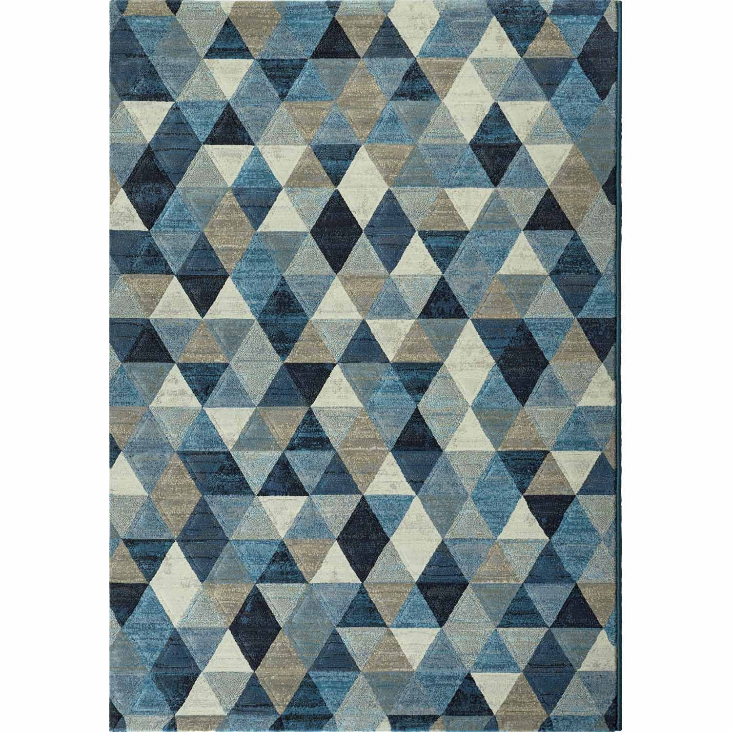 Blue Triangles Modern Rug Contemporary Style And High Quality At My Italian Living