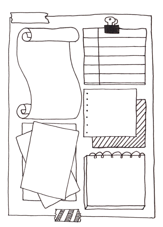 Free Hobonichi Journal Filofax printable note page. Tip