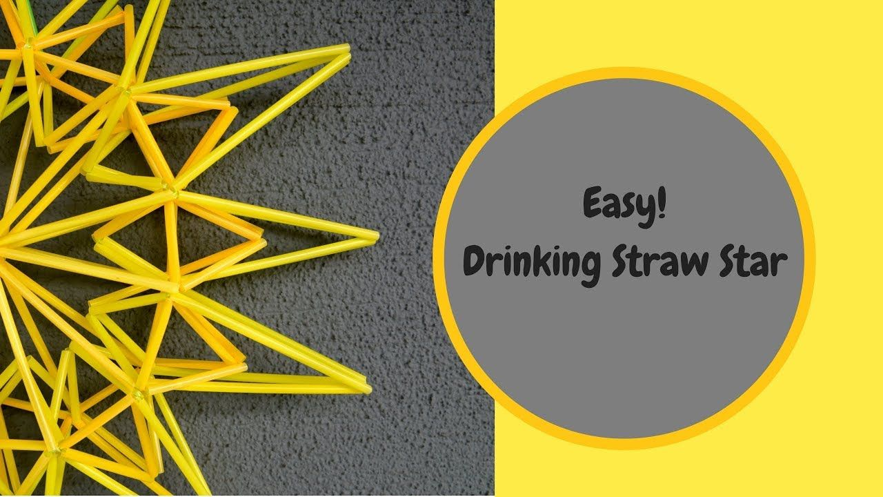 How to make a Drinking Straw Star   PaperArt   Pinterest   Bottle for Straw Lantern  150ifm