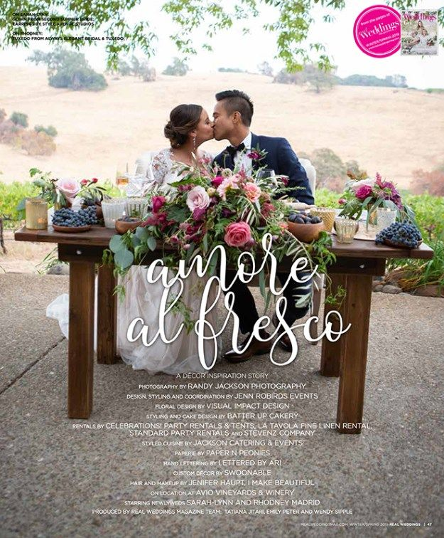 Sacramento Wedding Inspiration: Amore Al Fresco {The
