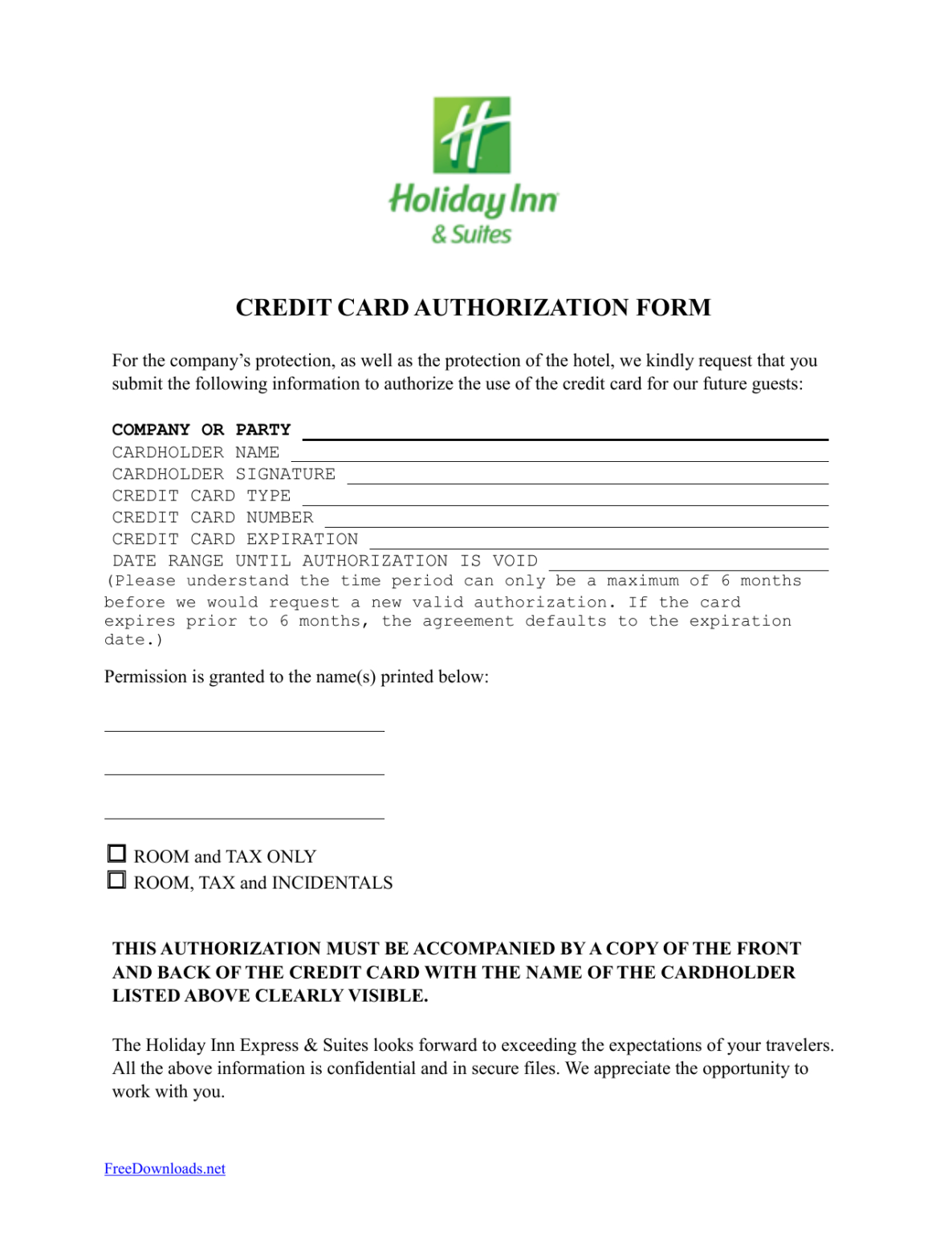 Download Holiday Inn Credit Card Authorization Form Template With Credit Card On File Form Templates Credit Card App Credit Card Images Credit Card