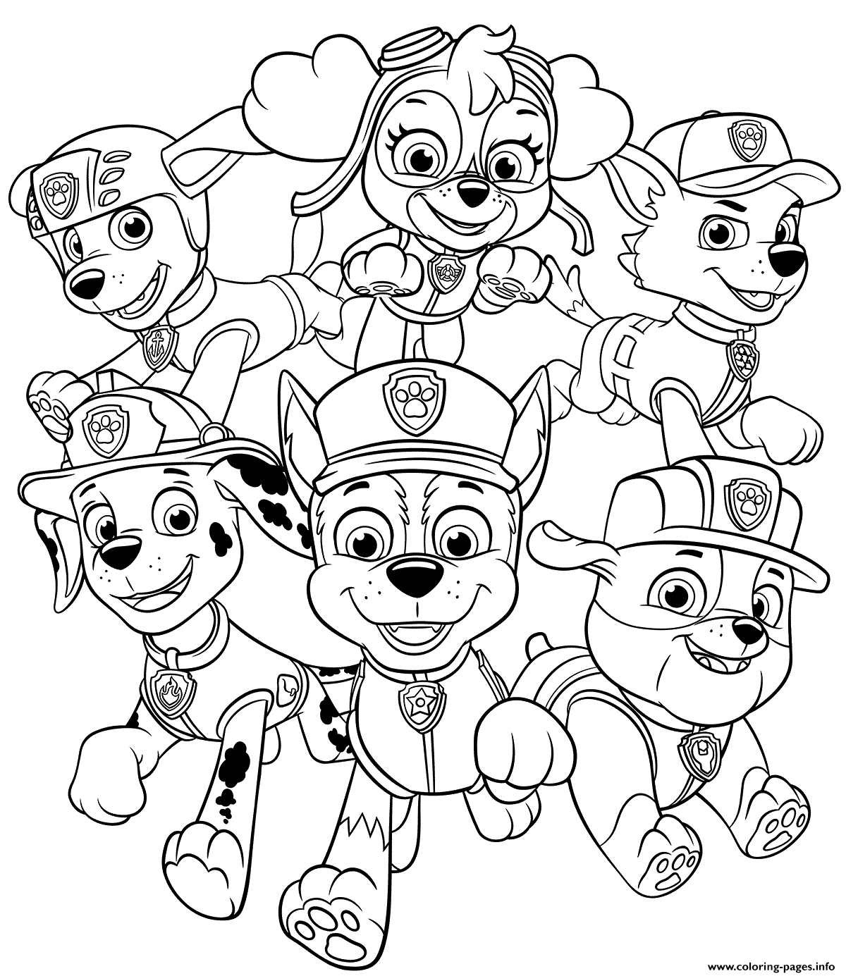 Print All Paw Patrol Pups coloring pages in 25  Paw patrol