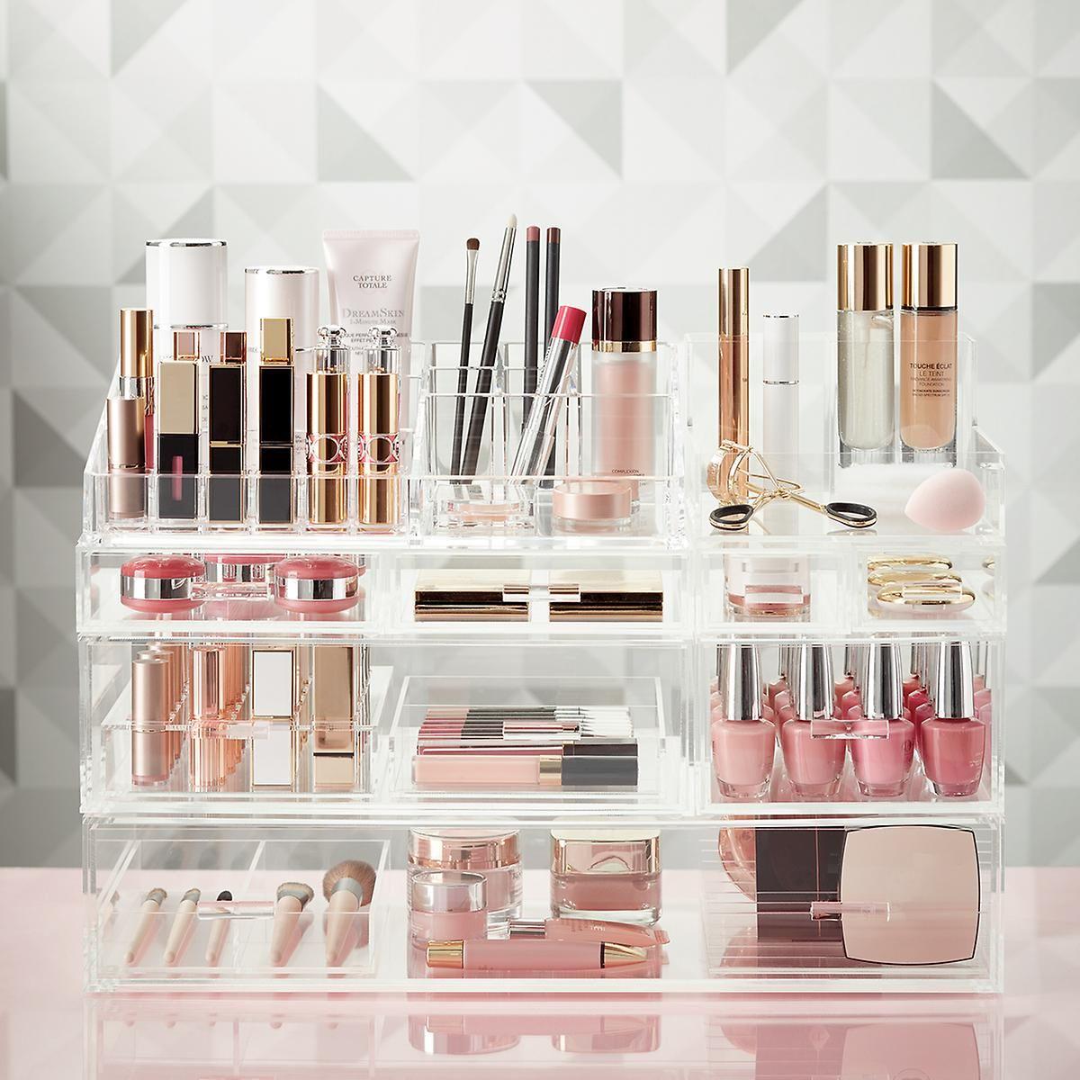 Luxe Acrylic Large Makeup Nail Polish Storage Starter Kit