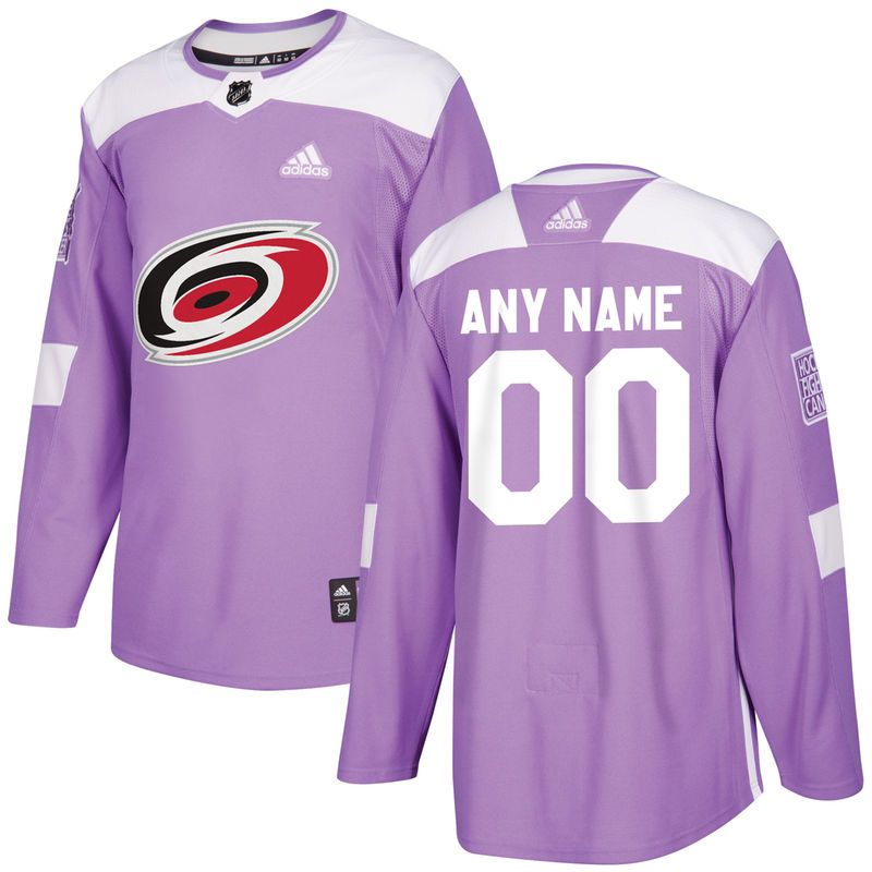 brand new 39401 9d0fe Carolina Hurricanes adidas Hockey Fights Cancer Custom ...