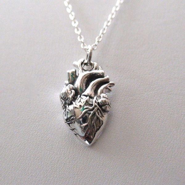 Anatomical heart necklace vintage anatomy heart by Mishakrisha ...