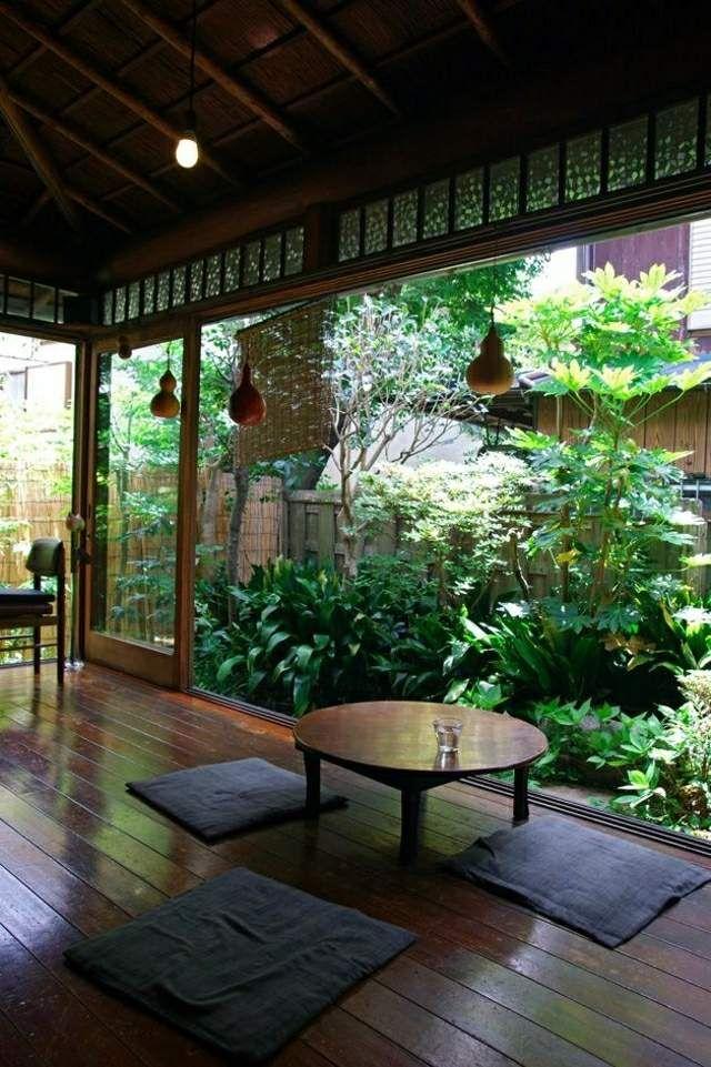Japanischen Garten Klein Pflanzen Sichtschutz Stadtvilla Zen Yard