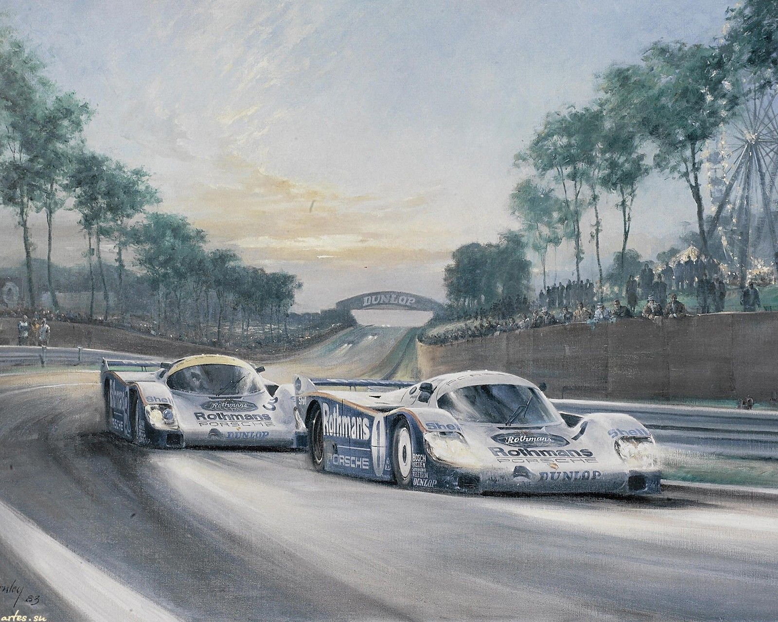 coches de carreras descargar wallpaper alan fearnley puesta del sol en le mans 1600x1200. Black Bedroom Furniture Sets. Home Design Ideas