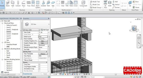 Revit Structure 2014 Section Box and Concrete Rebar