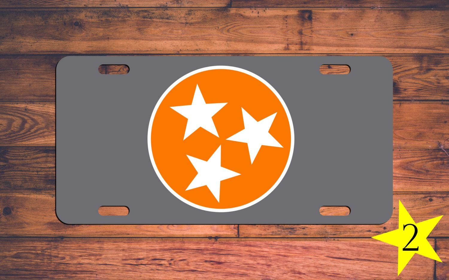 Tennessee VOLS Vanity License Plate TN Volunteers Car Tag 3 Stars ...