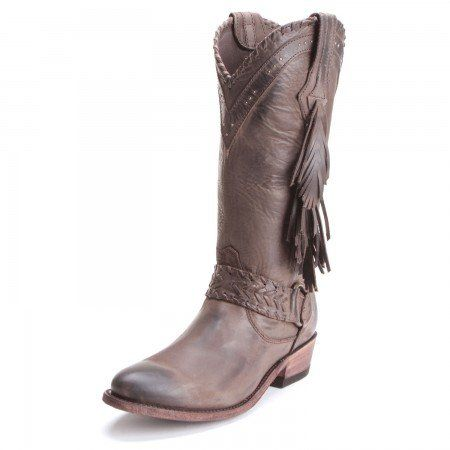 541f28bdb3b Old Gringo Womens Yippee Ki Yay Baraka Fringe Round Toe Cowboy Boots ...