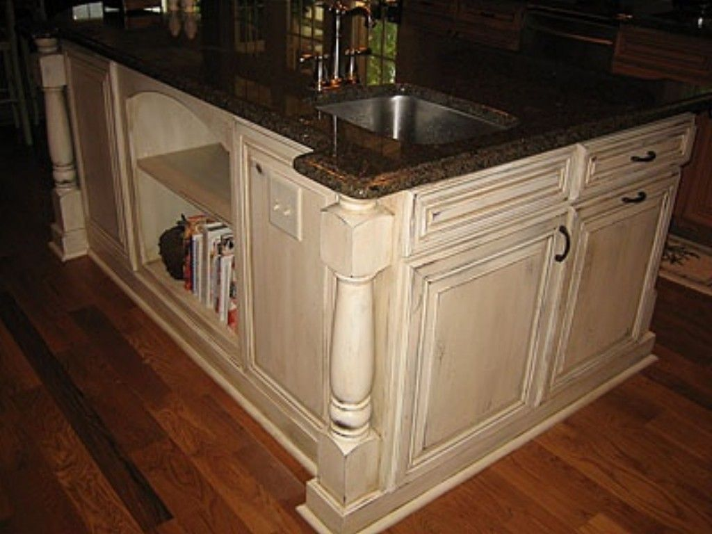 Pictures of kitchens with cream cabinets - Distressed Cream Kitchen Cabinets