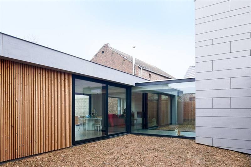 Lage aanbouw aan gerenoveerd huis equitone facade pinterest