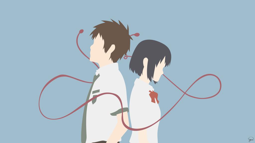 Taki/Mitsuha {Kimi no Na wa.} by greenmapple17 on DeviantArt