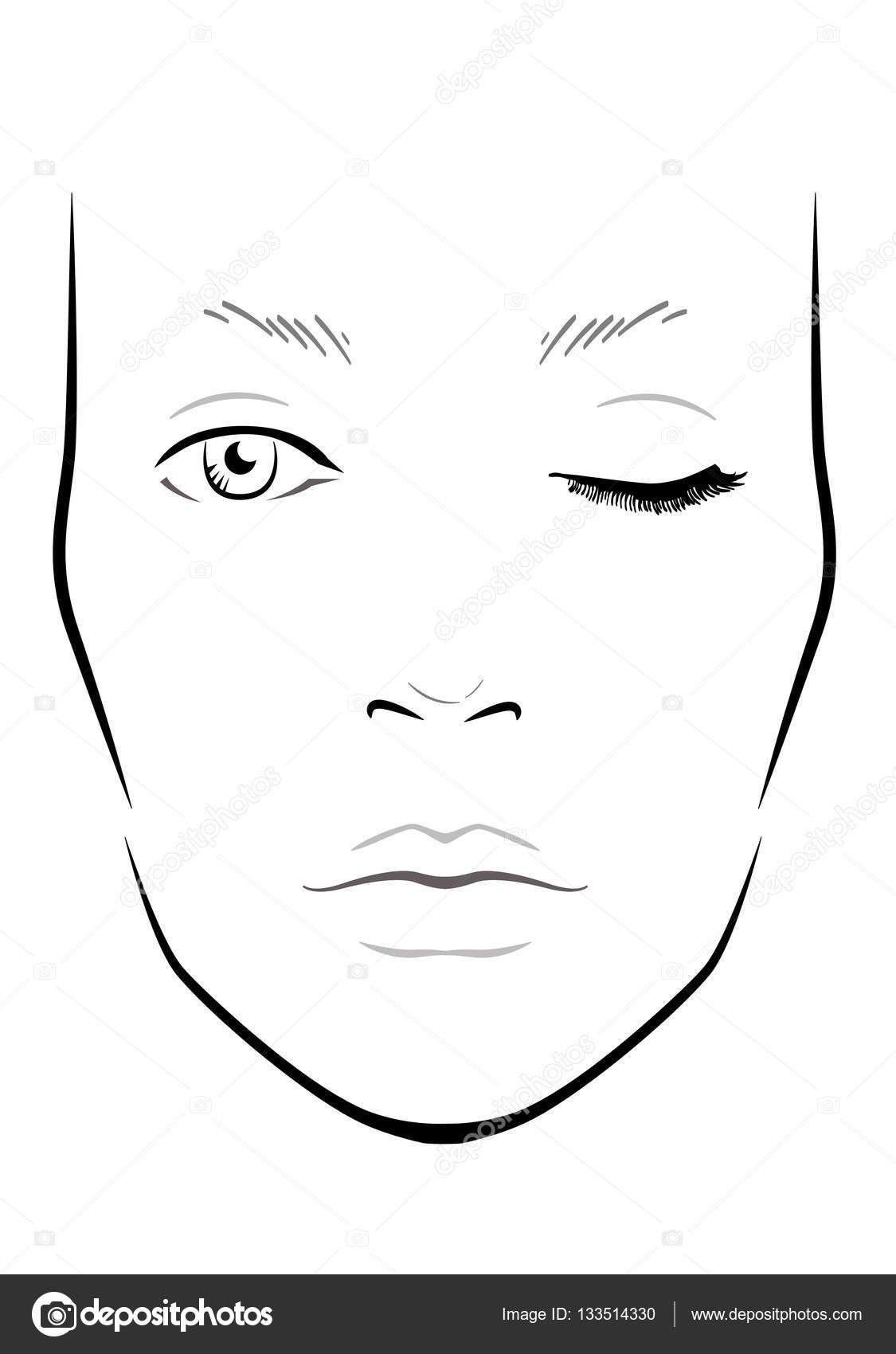 32 Face Template For Makeup General Makeup Template