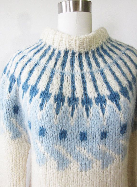 SALE fair isle sweater / vintage 60s nordic by RustBeltThreads ...